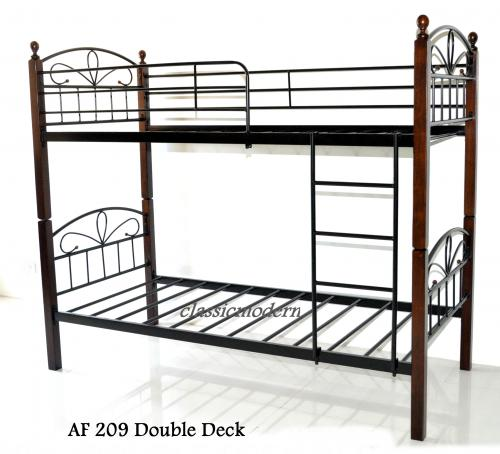 double deck bed frame classicmodern