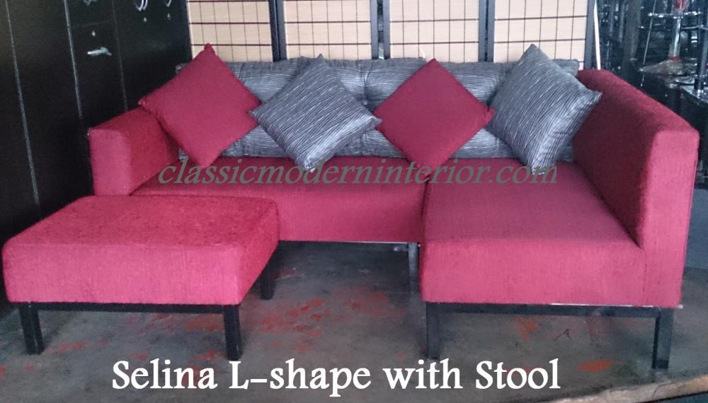 Selina Sala Set L Shape With Stool Classicmodern